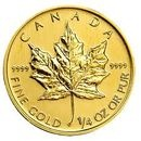 Monedă de aur: Gold Maple Leaf 2013 - 1/4 Oz
